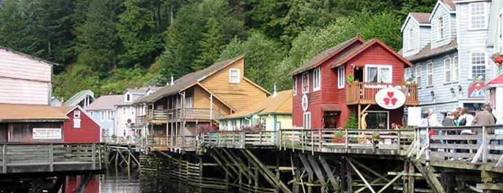 Photograph of Creek Street in Ketchikan, Alaska taken by Eugeniy Kalinin
